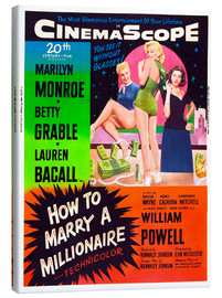 Stampa su tela  HOW TO MARRY A MILLIONAIRE, Betty Grable, Marilyn Monroe, Lauren Bacall