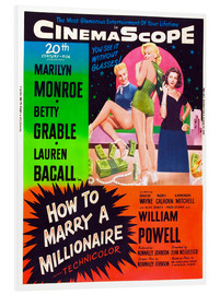 Stampa su schiuma dura  HOW TO MARRY A MILLIONAIRE, Betty Grable, Marilyn Monroe, Lauren Bacall