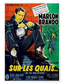 Poster  ON THE WATERFRONT, (SUR LES QUAIS), Marlon Brando