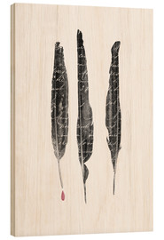 Legno  The Writer's feathers - Sybille Sterk