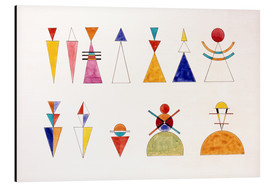 Alluminio Dibond  Pictures at an Exhibition, numbers - Wassily Kandinsky