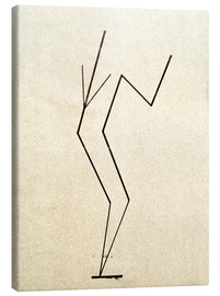 Tela  Analytical drawing after photos of dancing?.. - Wassily Kandinsky