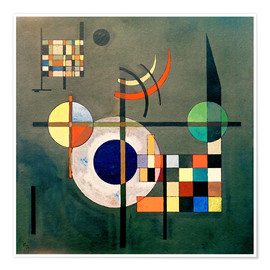 Poster Premium  Contrappesi - Wassily Kandinsky