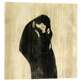 Vetro acrilico  The Kiss IV - Edvard Munch