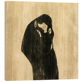 Stampa su legno  The Kiss IV - Edvard Munch