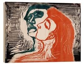 Legno  Man and woman is kissing - Edvard Munch