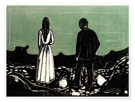 Poster  Two People (The Lonely Ones) - Edvard Munch