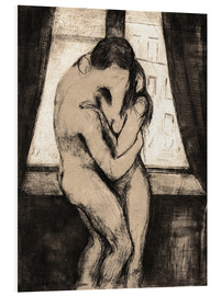 Stampa su schiuma dura  The Kiss - Edvard Munch
