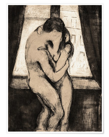 Poster  The Kiss - Edvard Munch