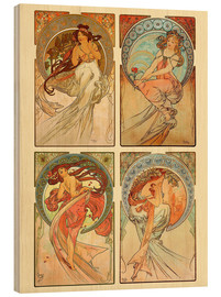Legno  The four arts, collage - Alfons Mucha