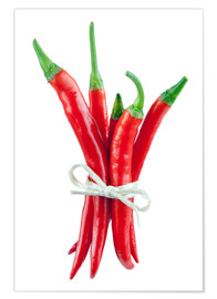 Poster Premium  Chili peppers pepperoni - pixelliebe