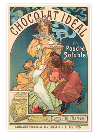 Poster  Chocolat Ideal - Alfons Mucha