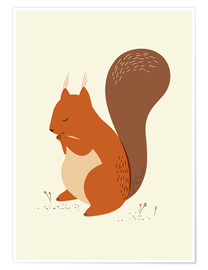Poster  squirrel - Sandy Lohß