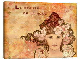 Stampa su tela  Rosa, Collage - Alfons Mucha