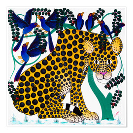 Poster Premium  Cheetah seeks protection under the bird tree - Omary