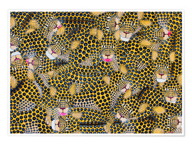 Poster Premium  Large cheetah cuddle - Omary