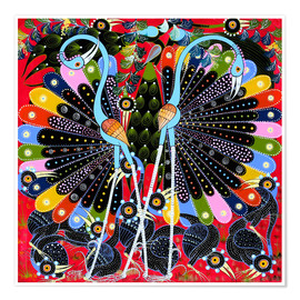 Poster Premium  Peacock in courtship - Stephan