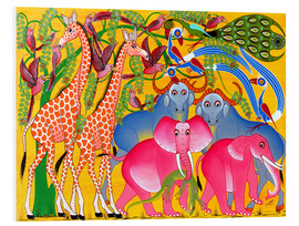 Stampa su PVC  Groups of animals in the bush - Omary