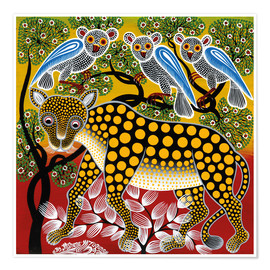 Poster Premium  Cheetah in the bush - Mzuguno