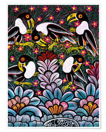 Poster Premium  Toucans in the foliage - Mzuguno