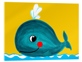 Vetro acrilico  Frida, the friendly whale - Little Miss Arty