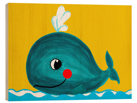 Legno  Frida, the friendly whale - Little Miss Arty