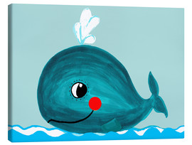 Stampa su tela  Willfried, la balena amichevole - Little Miss Arty