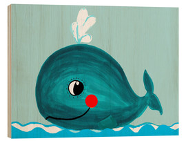Legno  Willow, the friendly whale - Little Miss Arty