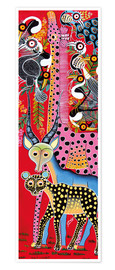 Poster Premium  Variety of animals from Africa - Lewis