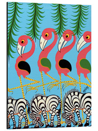 Stampa su alluminio  The Dance of the Flamingos - Maulana