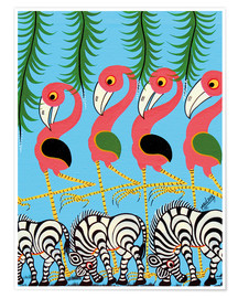 Poster Premium  The Dance of the Flamingos - Maulana
