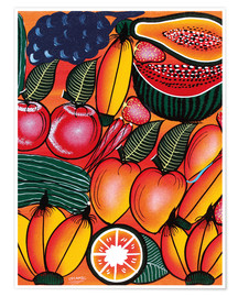 Poster Premium  Exotic Fruits All kinds of - Chilambo