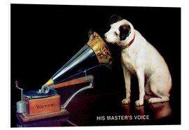 Stampa su schiuma dura  Victor Grammophon   His master's voice - Advertising Collection