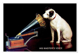 Poster Premium  Victor Grammophon   His master's voice - Advertising Collection