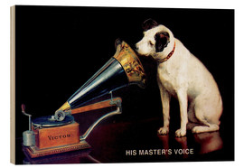 Stampa su legno  Victor Grammophon   His master's voice - Advertising Collection
