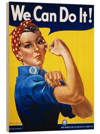 Stampa su legno  We can do it! - Advertising Collection