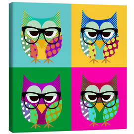 Stampa su tela  Pop Art Owls - GreenNest