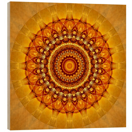 Legno  Mandala bright yellow - Christine Bässler