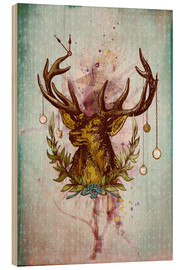 Stampa su legno  Oh Deer, is that the time? - Sybille Sterk