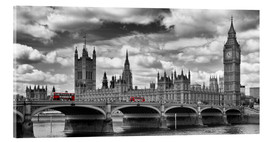 Stampa su vetro acrilico  LONDON Westminster Bridge Panoramic - Melanie Viola