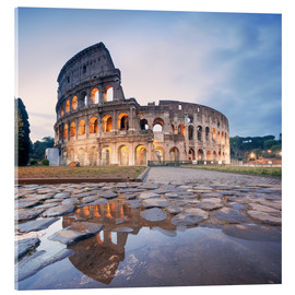 Stampa su vetro acrilico  Colosseum reflected into water - Matteo Colombo