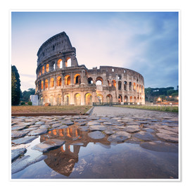 Poster Premium  Colosseum reflected into water - Matteo Colombo