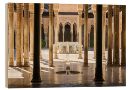 Stampa su legno  Court of the Lions, Alhambra palace, Granada, Spain - Matteo Colombo