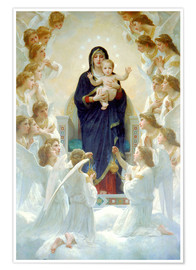 Poster Premium  La Vergine con angeli - William Adolphe Bouguereau