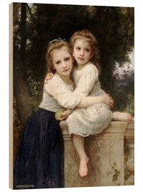 Stampa su legno  Two sisters - William Adolphe Bouguereau