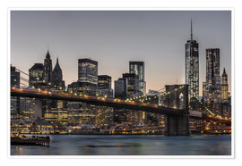 Poster  Brooklyn Bridge /Manhattan - Marcus Sielaff