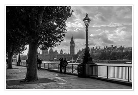 Poster Premium  London black and white - Filtergrafia