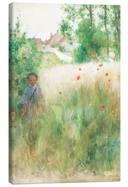 Stampa su tela  The flower garden - Carl Larsson