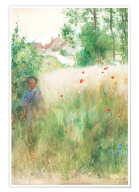 Poster Premium  The flower garden - Carl Larsson
