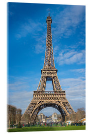 Stampa su vetro acrilico  The Eiffel Tower of  Paris - FineArt Panorama